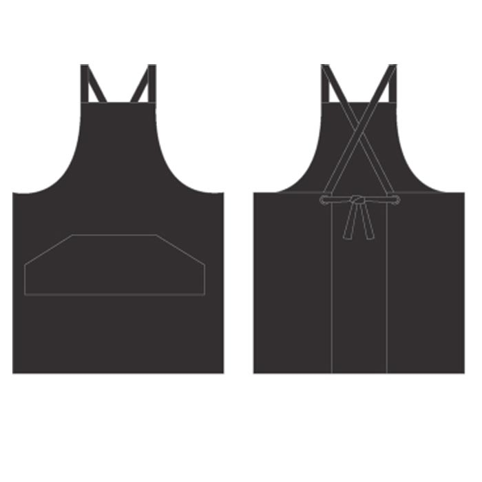 Crossover Apron - Black -0