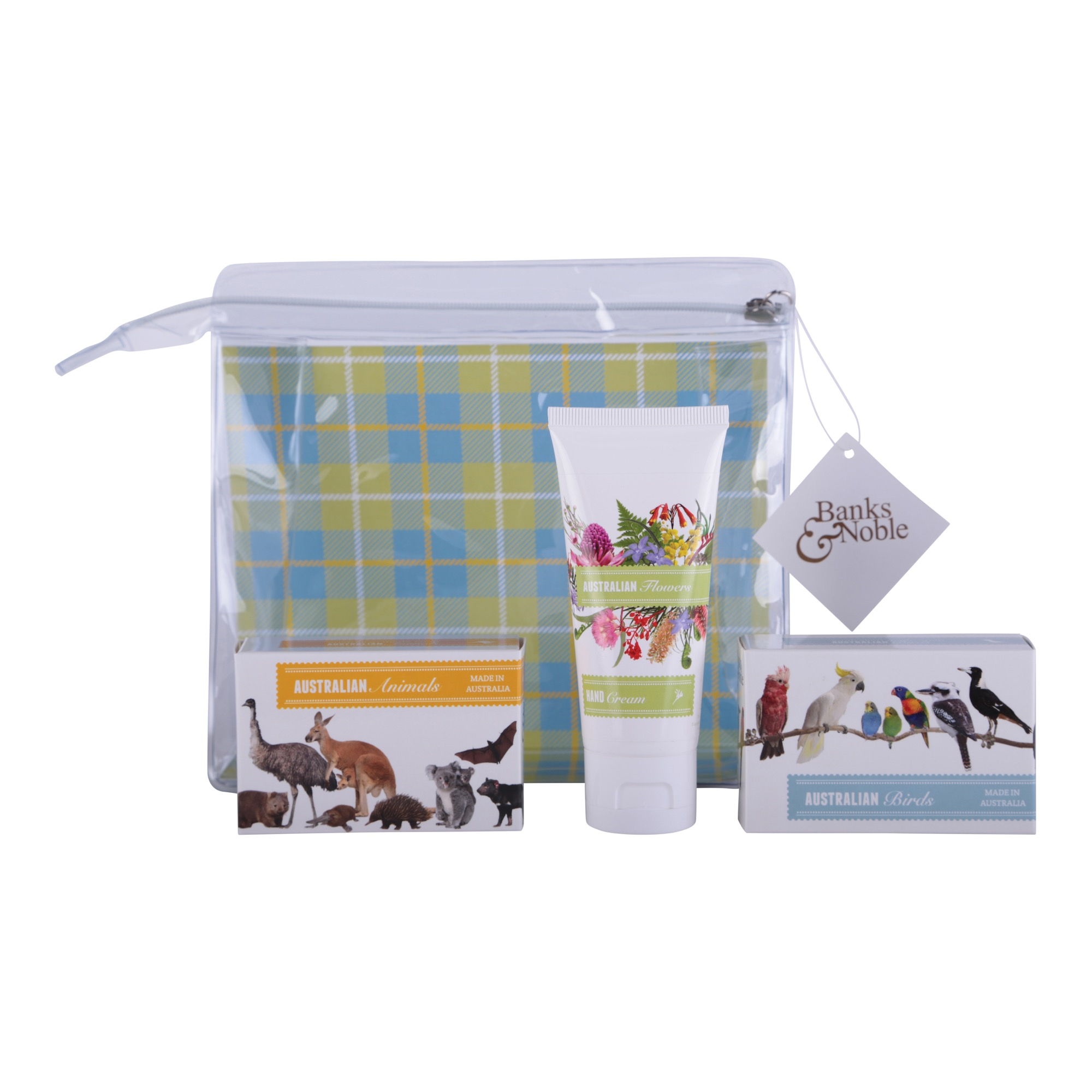 Australian Trio Animal, Bird & Flower Gift Pack - 2 Soaps, 1 Hand Cream